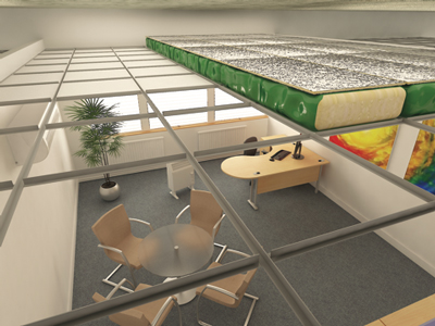 Suspended Ceiling Insulation System | Green Planet Insulation